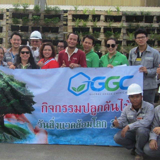 """GGC จัดกิจกรรมรับ """"วันสิ่งแวดล้อมโลก"""" นำพนักงานปลูกสวนแนวตั้ง ผสานพลังภูมิปัญญาชาวบ้าน สืบสานงาน CSR"""