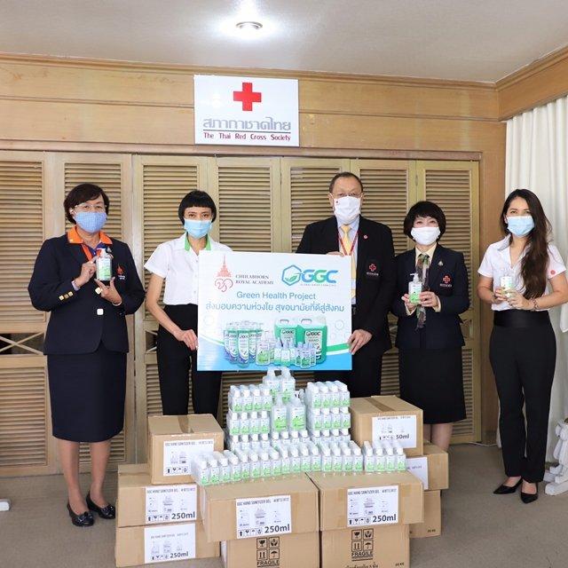 GGC ร่วมสู้ภัยโควิด-19 สนับสนุนเจลแอลกอฮอล์ทำความสะอาดมือ สู่ถุงยังชีพสภากาชาดไทย